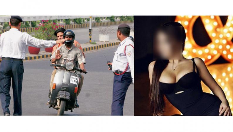 इस मशहूर मॉडल ने दिया ट्रैफिक पुलिस को हमबिस्तर होने का ऑफर