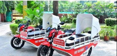 Hero Motocorp donated aid vehicles for corona patients