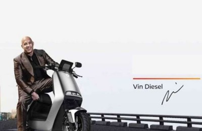 American actor Vin Diesel advertising China's electric scooter