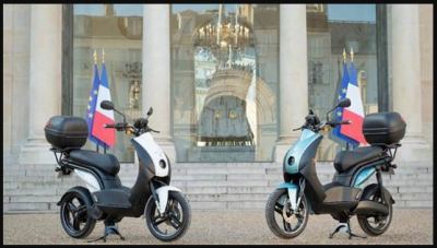 This scooter 'Made in India' included in convoy of President of France