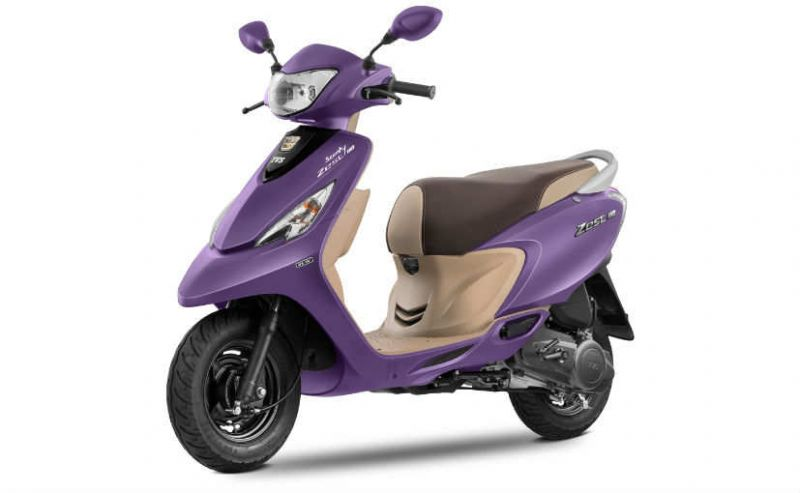 TVS launches matte purple color, Scotty Zest 110 in India