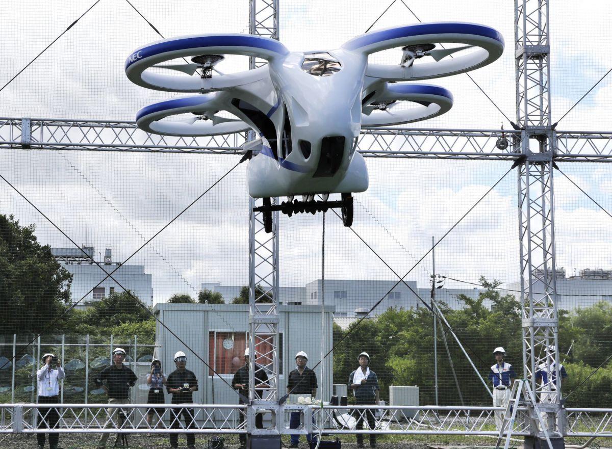 जापान ने बनाई मानवरहित उड़ने वाली कार, परीक्षण की तस्वीरे आई सामने