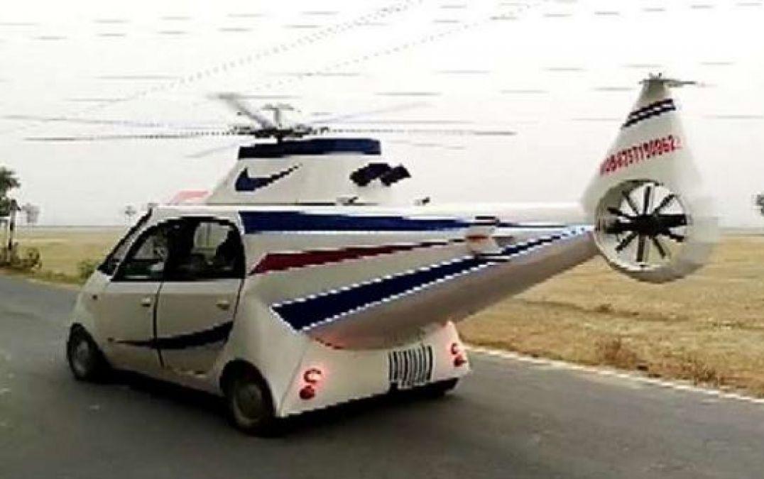Man Modifies Tata Nano Into Helicopter Car In Bihar