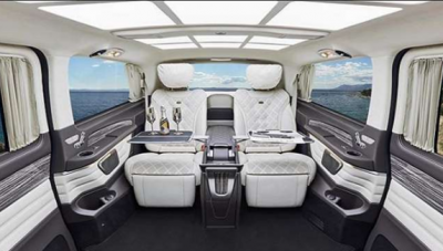 Jet on Wheels: This Modified Luxurious Mercedes V-Class Van Looks like a Private Jet
