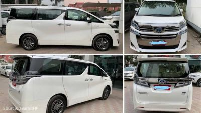 Toyota Vellfire seen even before its launch in India, the price maybe 79 lakhs
