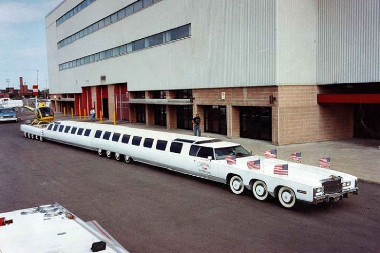 Know about the world's longest car in which a Helicopter can land!
