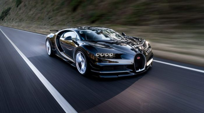 Bugatti Chiron, with enormous power and fastest speed