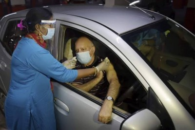 Noida gets third drive-in vaccination centre