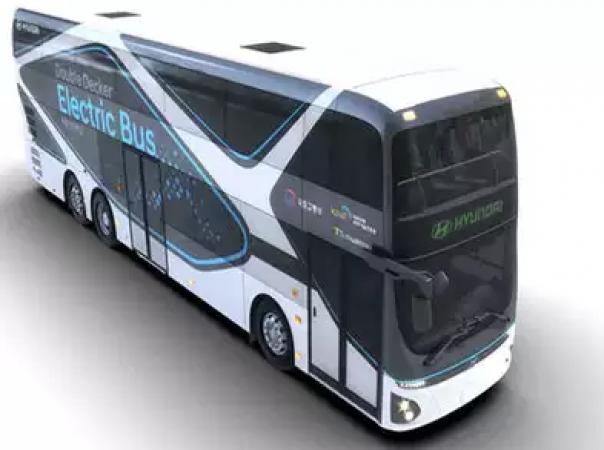 Hyundai की ये इलेक्ट्रिक डबल डेकर बस मात्र 72 मिनट में होगी फुल चार्ज