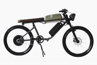 This powerful bicycle runs 65 KM without pedaling