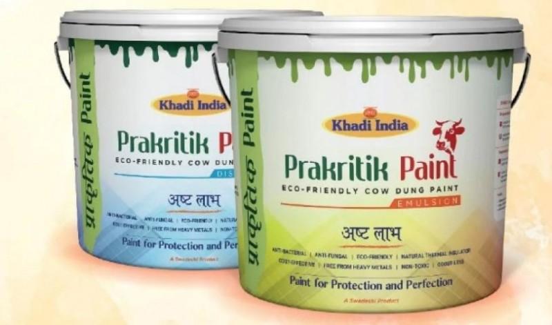 न बदबू और ना ही हानिकारक रसायन, खादी इंडिया ने पेश किया गोबर निर्मित 'वैदिक पेंट'
