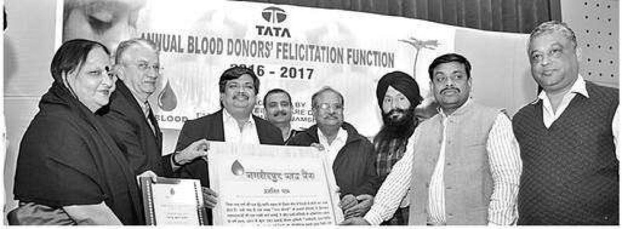 टाटा मोटर्स ने किया रक्त दाताओं का सम्मान