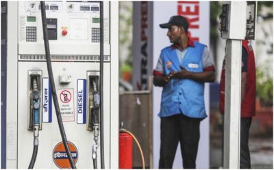 Petrol prices fall after two days, diesel prices stable