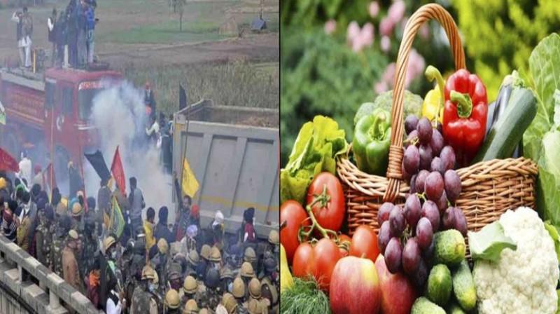 किसान आंदोलन के कारण थमी रफ़्तार, बढ़ सकते हैं फल-सब्जियों के दाम