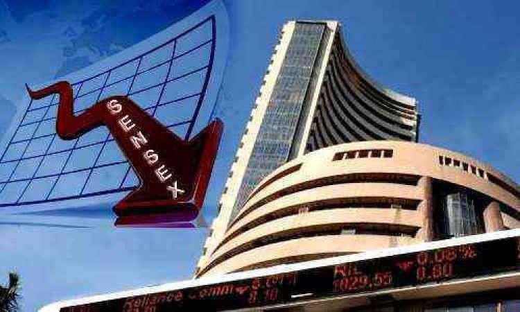 शेयर बाजार में आई भारी गिरावट, 800 अंक गिरा सेंसेक्स