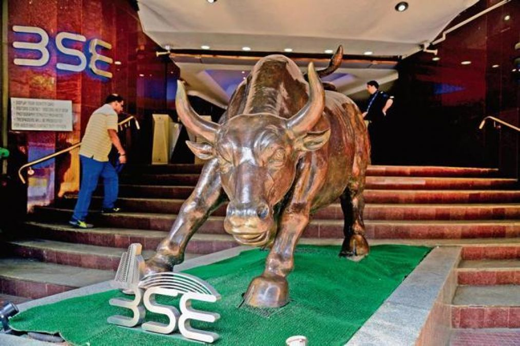 Rise in the stock market, Sensex opened by 1300 points
