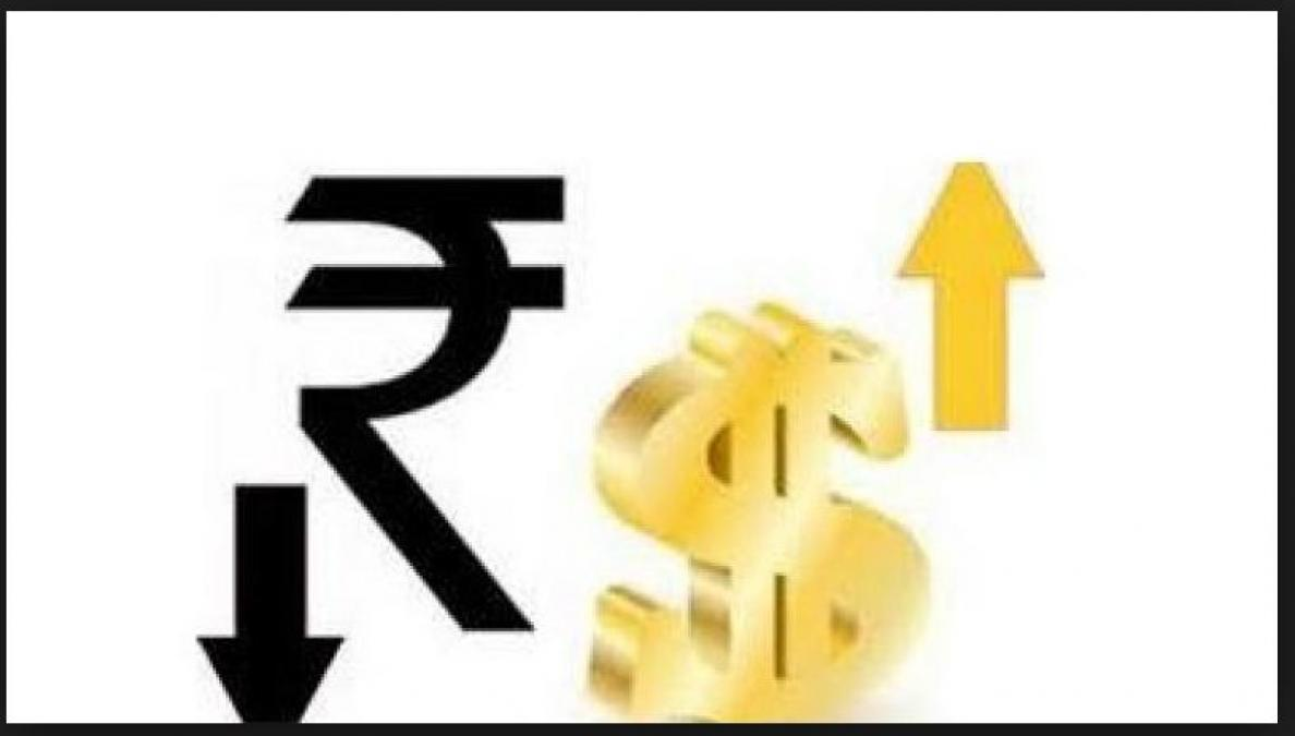 The rupees fell down .07 paise against the US dollar in early trade