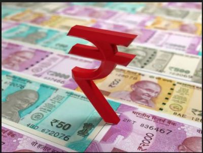 The rupee depreciated by 48 paise against dollar in early trade