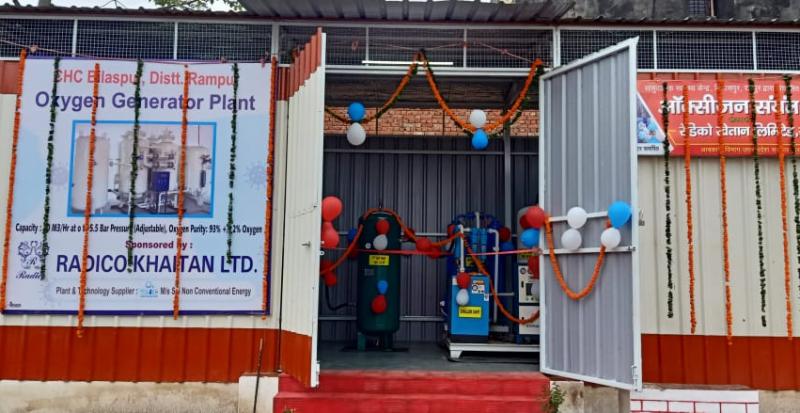 रेडिको खेतान ने यूपी के छह जिलों में स्थापित किए ऑक्सीजन जनरेटर प्लांट