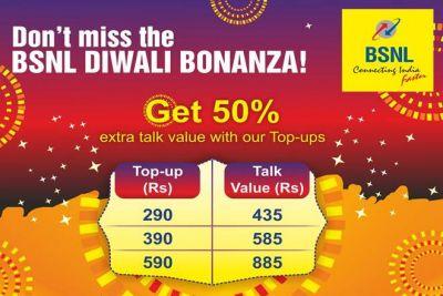 BSNL Diwali Bonanza: 50% Discount on Recharge Coupon