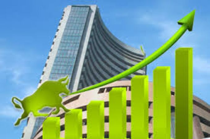 Sensex recovers 117 points ahead due to Gujarat polls