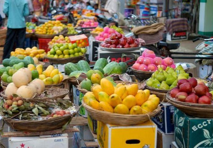 व्यापक हड़ताल का फल-सब्जियों पर नहीं हुआ असर