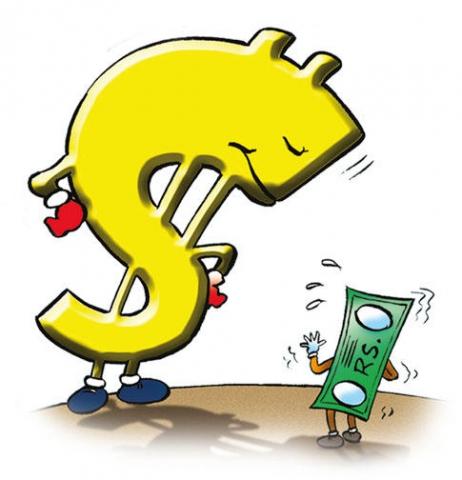 डॉलर के मुकाबले कमजोर हुआ रुपया