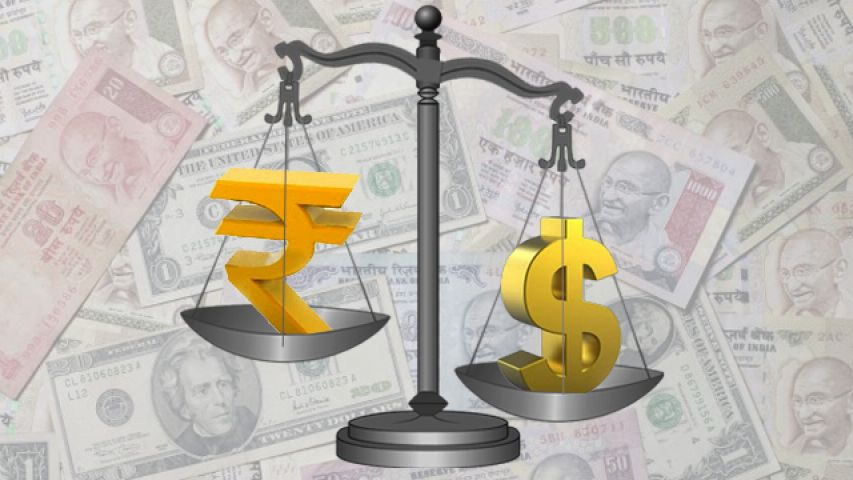 Rupees up 6 paise against US dollar
