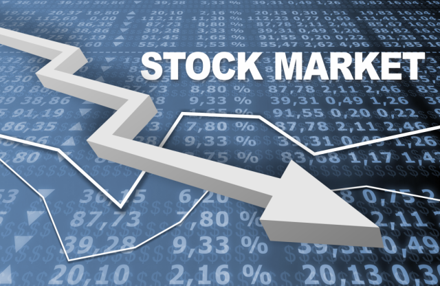 शेयर मार्किट में आई गिरावट