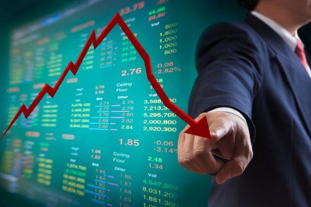 शेयर बाजार में गिरावट का रुख