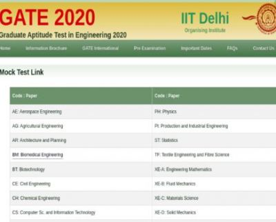 GATE 2020 mock test series released, read here for details