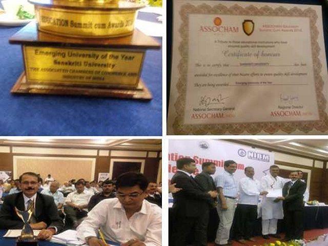 ज्ञान विज्ञानं :संस्कृति विश्वविद्यालय को सर्वश्रेष्ठ उभरते विश्वविद्यालय से किया गया सम्मानित