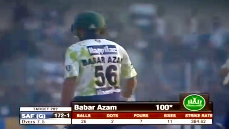 Image result for babar azam 26 ball 100