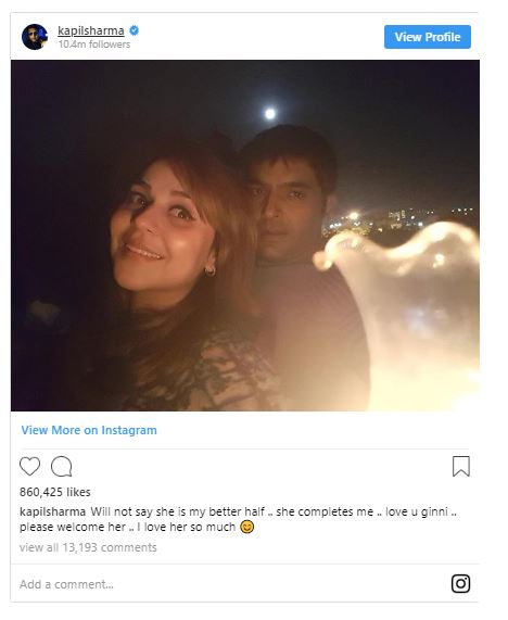 Kapil Sharma is to tie the knot with Ginni Chatrath this December 1