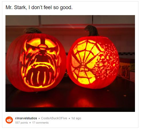 Avengers 4 Spiderman And Thanos Snap Scene Recreated On A Pumpkin In Infinity War Newstrack English 1