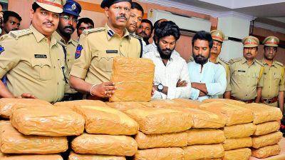 Coastal security police seized 34 kilograms ganja near Arcotthurai