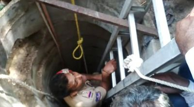 Telangana Police dives 60 feet deep into well to save 2 labourers