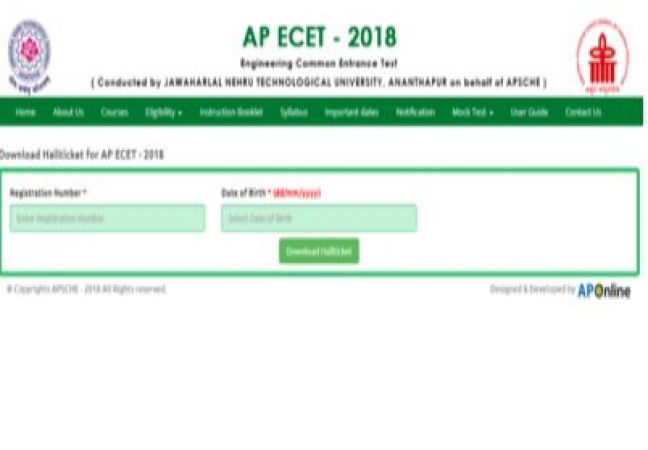 AP ECET 2018: Guide to download Hall Ticket
