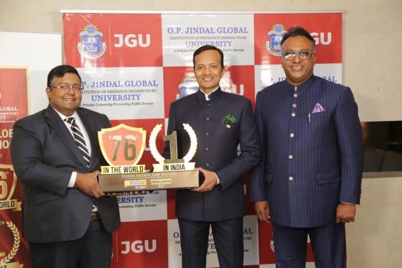विश्व स्तर पर 76वें स्थान पर है जिंदल ग्लोबल लॉ स्कूल