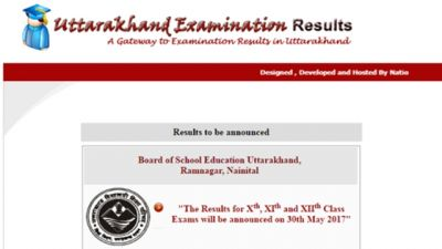 UBSE 10th Results 2017 to be declared today at 11 AM