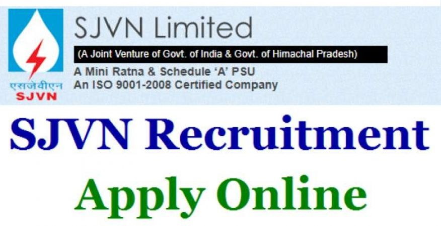 SJVN Recruitment 2018: Limited Vacancies for Technical Posts, Apply Soon