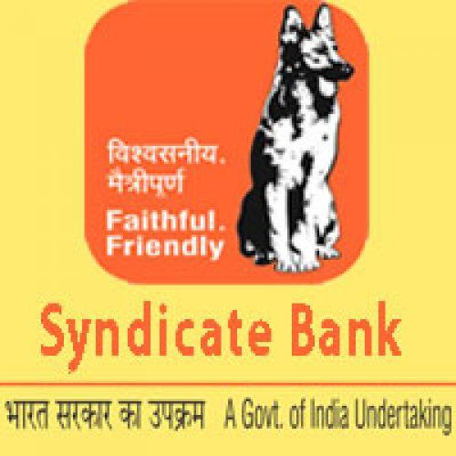 Syndicate Bank openings apply soon!!