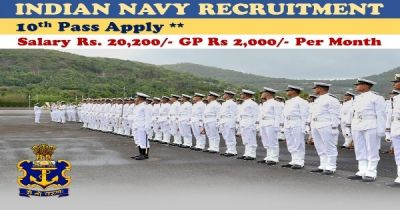 Hurry! Job Opportunities in Indian Navy, 10th Pass Can Apply