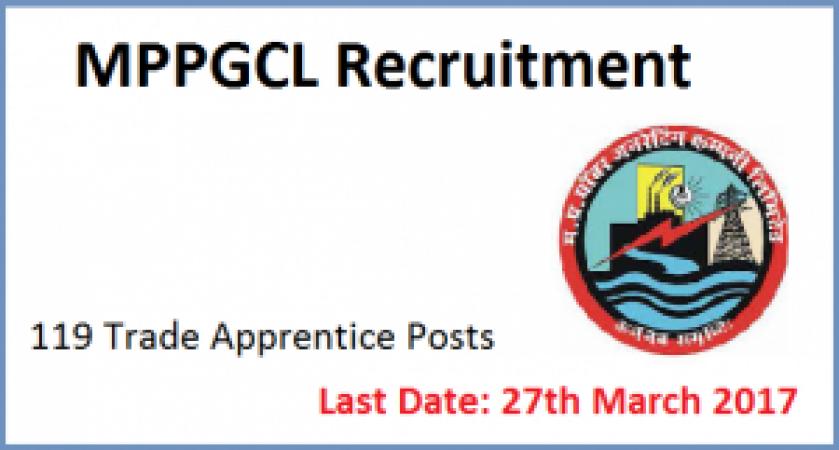 MPPGCL Recruitment 2017: 191 Trade Apprentice Vacancies