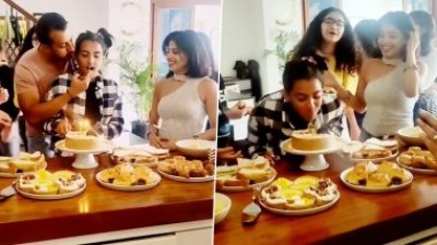 Dia Mirza celebrates her daughter's birthday with her husband and his ex-wife, video goes viral