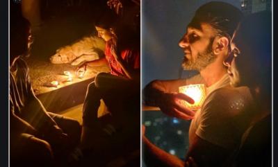 Deepika and Anushka lit lamp with their husband