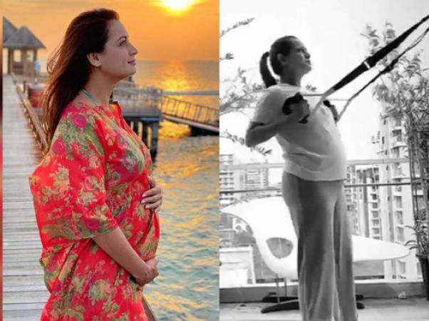 प्रेग्नेंसी में वर्कआउट कर रहीं हैं दीया मिर्जा, वीडियो वायरल