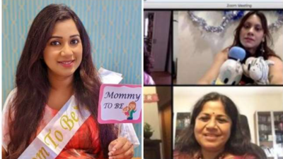 Pictures of Shreya Ghoshal's virtual baby shower going viral