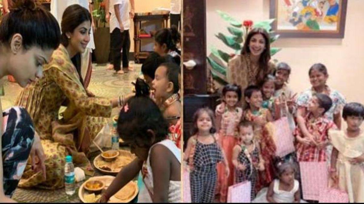शिल्पा शेट्टी ने धूमधाम से मनाई रामनवमी, घर पर कन्याओं को अपने हाथों से खिलाया खाना