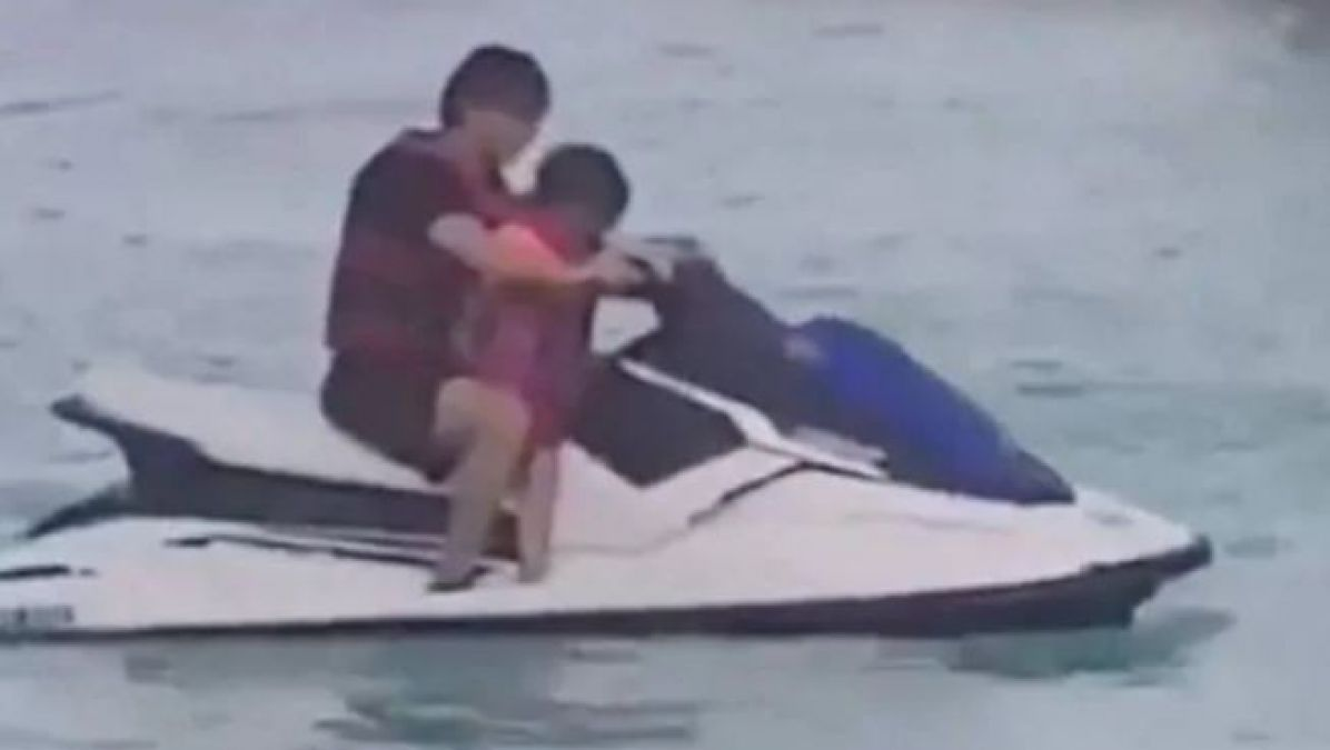 King Khan enjoys in the Maldives with son, jet ski ride video goes viral!